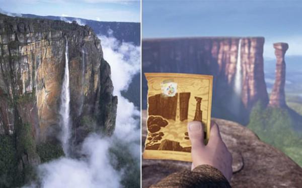 Salto del Ángel en Venezuela / Disney: Paradise Falls en Up