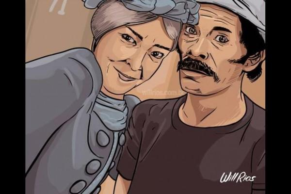 selfie doña cleotilde don ramon