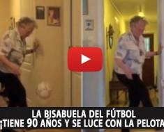La bisabuela del fútbol: ¡tiene 90 años y se luce con la pelota!