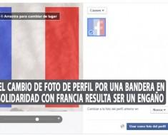 El cambio de foto de perfil por una bandera en solidaridad con Francia resulta ser un engaño