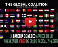 La bandera de México aparece en un amenazante vídeo de un grupo radical yihadista