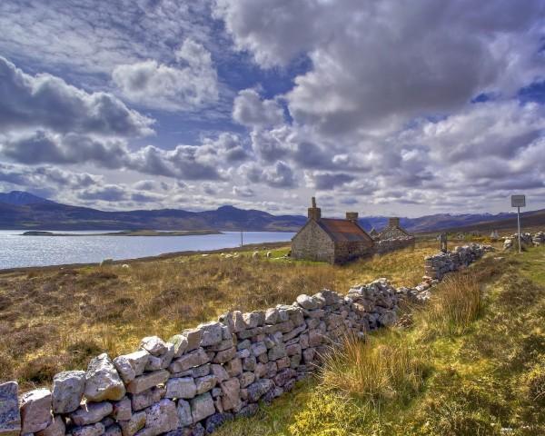 casas solitarias naturaleza escocia