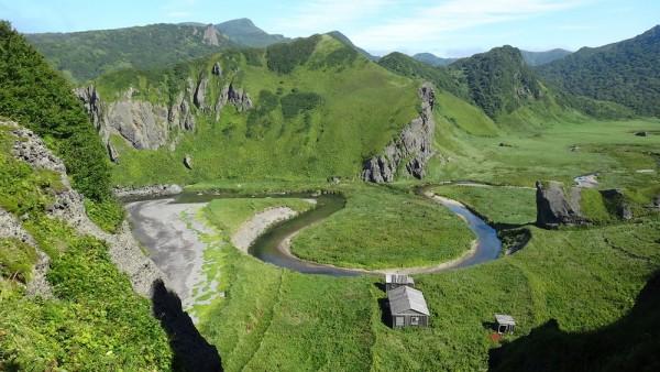 casas solitarias naturaleza islas-kuriles-japon