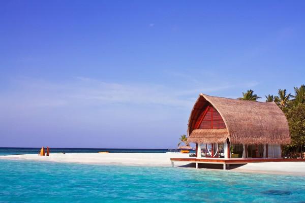 casas solitarias naturaleza maldivas