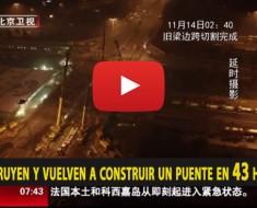 En China sólo necesitan 43 horas para retirar y volver a construir un puente