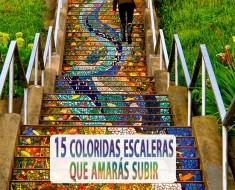 15 coloridas escaleras que amaras subir
