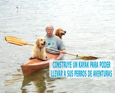 Construye un kayak para poder llevar a sus perros de aventuras