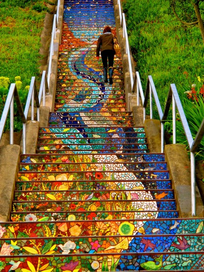 escalera 16th avenue tiled steps san francisco