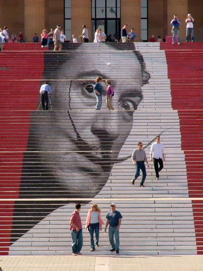 escalera museo de arte philadelphia