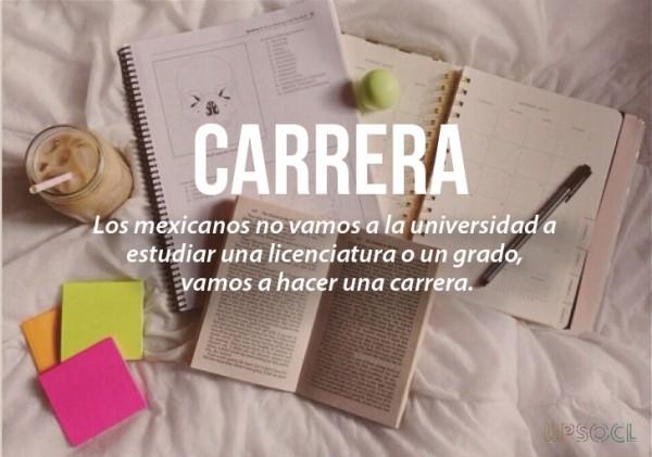 expresiones mexicanas significado de carrera