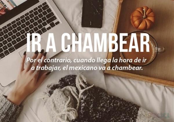 expresiones mexicanas significado de ir a chambear