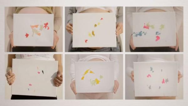 Hermosas pinturas de bebés que todavía no han nacido