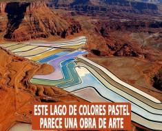 Este lago en Utah de colores pastel parece una obra de arte