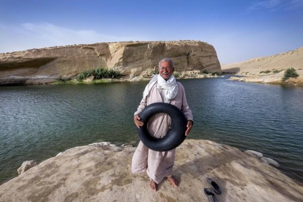 Lago de Gafsa o la playa de Gafsa Tunez