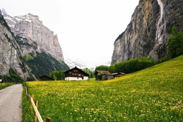 Lauterbrunnen valle 72 cascadas