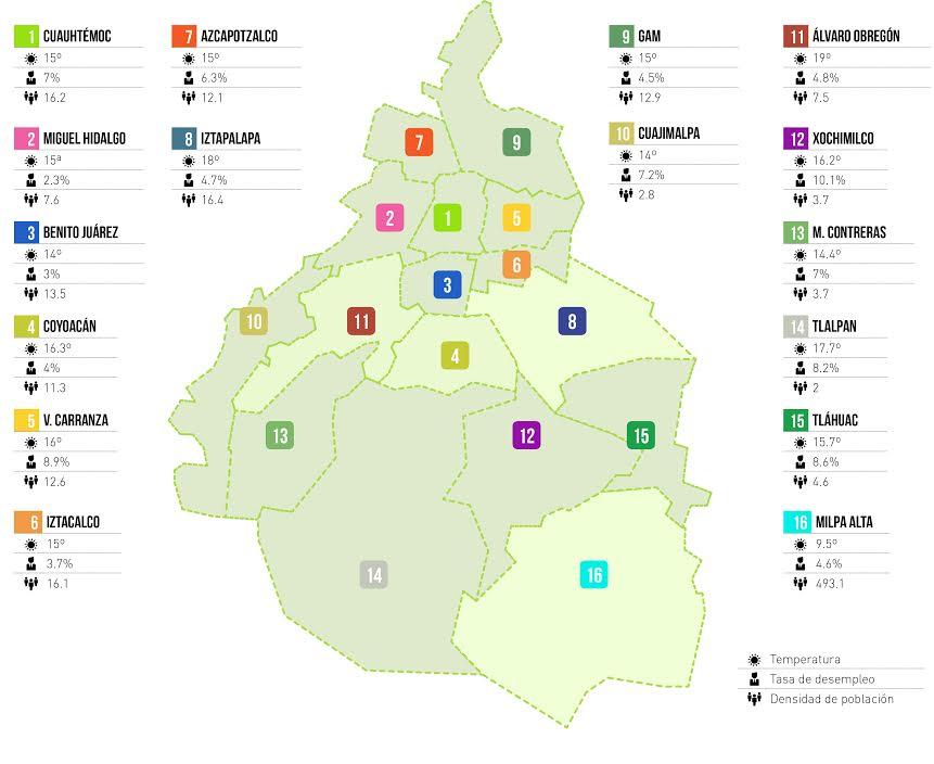 Las mejores delegaciones para vivir en el Distrito Federal