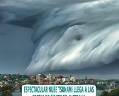 nube tsunami costas sidney australia