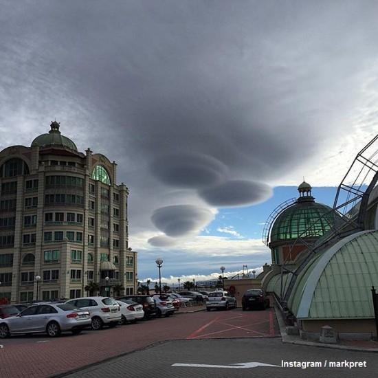 nubes lenticulares ciudad del cabo