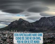 Estas espectaculares nubes sobre Ciudad del Cabo no son ovnis
