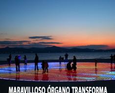Maravilloso órgano transforma las olas del mar en música