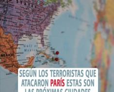 Según los terroristas que atacaron París estas son las próximas ciudades