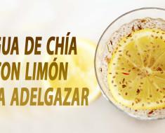 Agua de chía con limón para adelgazar