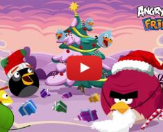 Angry Birds te desea felices fiestas de Navidad