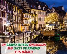 Un barrio entero sincroniza sus luces de Navidad y es mágico