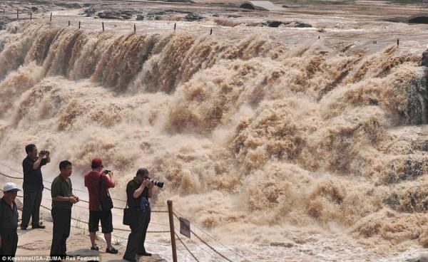 cascada hukou rio amarillo china