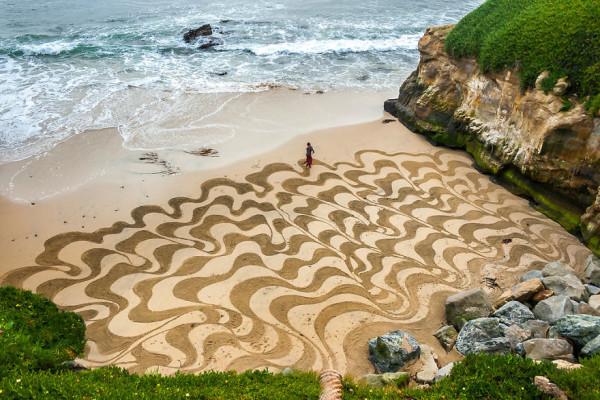 dibujos arena playa andres amador