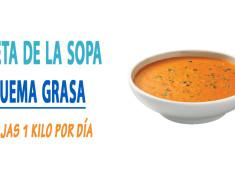 Dieta de la sopa quema grasa, bajas 1 kilo por día