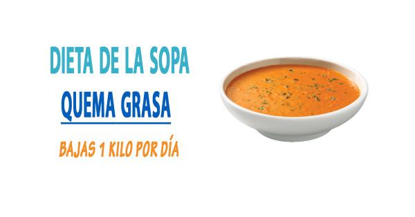 Sopa quema grasa dieta