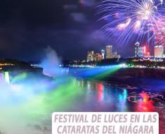 Festival de Luces en las Cataratas del Niágara