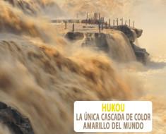 Hukou, la única cascada de color amarillo del mundo