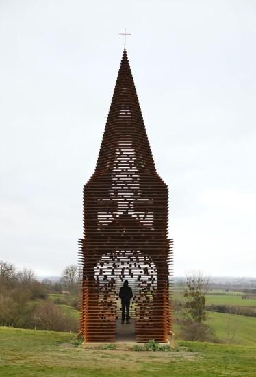 iglesia transparente Belgica Gijs Van Vaerenbergh