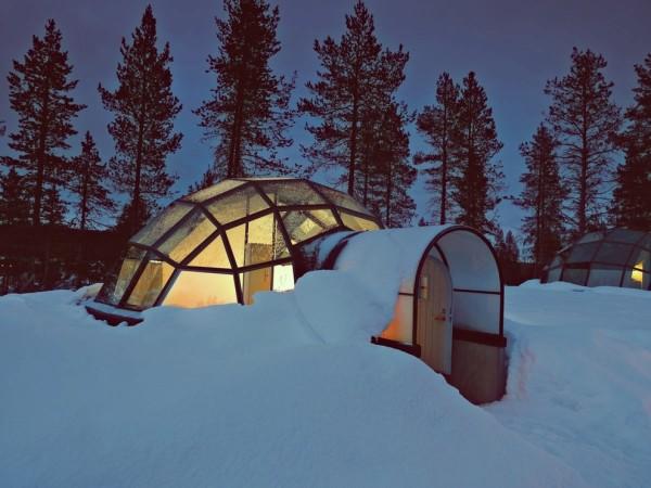 iglu hotel kakslauttanen finlandia aurora boreal