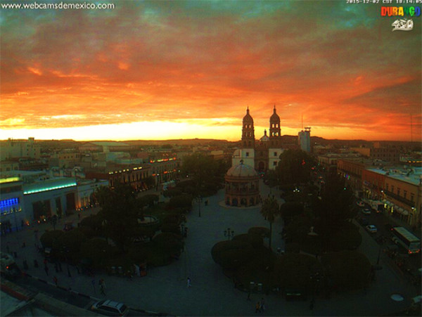 impresionante amanecer durango mexico