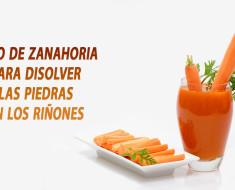 Jugo de zanahoria para disolver las piedras en los riñones