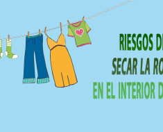 Riesgos de secar la ropa en el interior de casa