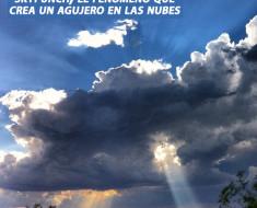 Skypunch, el fenómeno que crea un agujero en las nubes