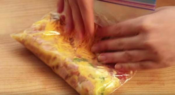 tortilla huevo bolsa plástico