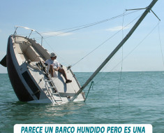 barco hundido mensaje inspirador