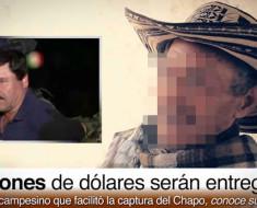 Campesino que revelo la ubicación del chapo recibirá 5 millones de dólares