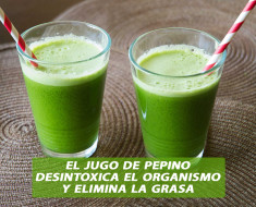 El jugo de pepino desintoxica el organismo y elimina la grasa