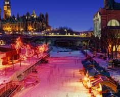 La mayor pista de patinaje del mundo El Canal Rideau en Ottawa