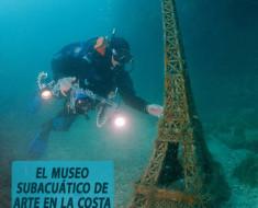 El museo subacuático de arte en la costa de Crimea
