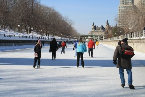 patinaje canal rideau ottawa canada