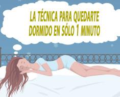 La técnica para quedarte dormido en sólo 1 minuto