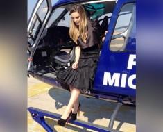 Nueva polémica de Belinda por viaje en helicóptero oficial para ver al papa