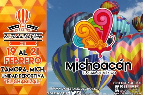 Primer Festival del Globo Aerostático en Zamora, México